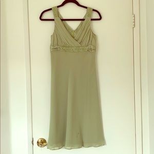 Chiffon dress with embroidery detail